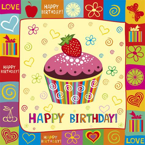 happy birthday design elements happy birthday elements card vector free vector in