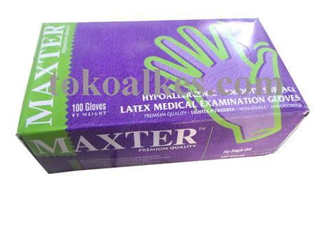 Sarung Tangan Plastik Isi 50 Pcs sarung tangan karet maxter non steril powdered tokoalkes
