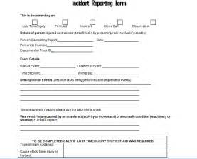 incident report form template get employee incident report form doc project management