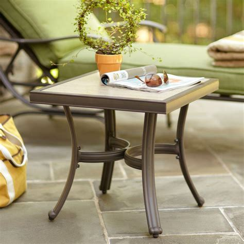 patio accent table hton bay pembrey patio accent table hd14217 the home