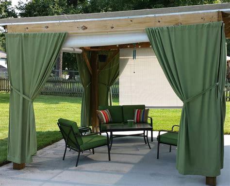 outdoor curtain rod ideas outdoor curtain rod with post set home design ideas