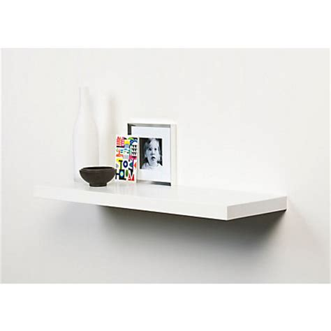 Homebase Shelf Board by Duraline White Floating Shelf 60cm