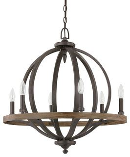 Mediterranean Light Fixtures Capital Lighting 4906ia Brayden 6 Light Pendant Iron And Oak Mediterranean Chandeliers By