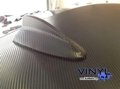 vinyl roof pattern one piece carbon fiber wrap on mercedes benz shark fin