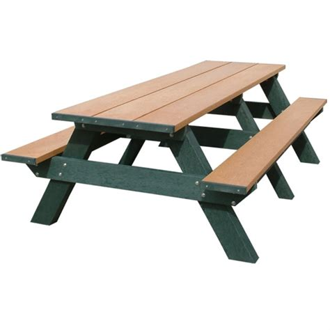 plastic folding picnic table 8 ft recycled plastic rectangular picnic table portable
