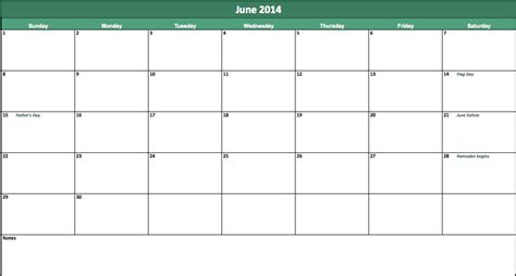 June 2014 Calendar Template by June 2014 Calendar 2014 June Calendar