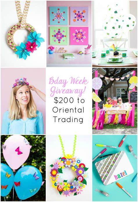 Oriental Trading Giveaway - birthday week giveaway 200 to oriental trading design improvised