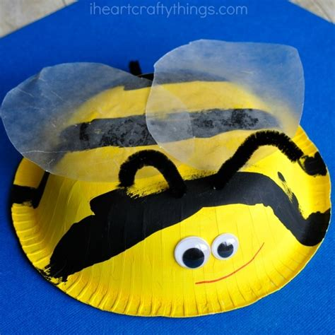 Bumble Bee Paper Plate Craft - 50 bug crafts for cool kiddy stuff