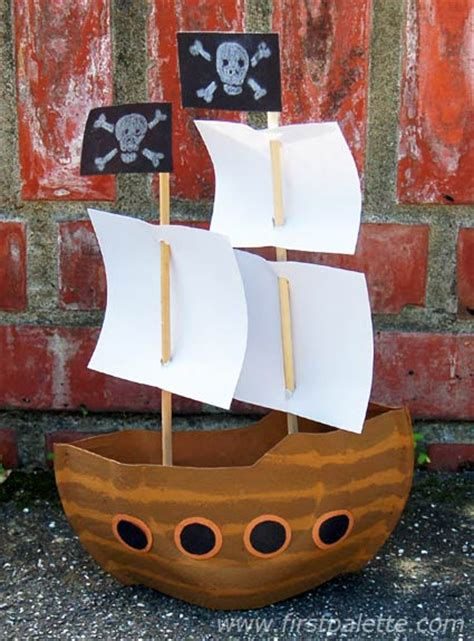 Papercraft Pirate Ship - mayflower or pirate ship craft crafts