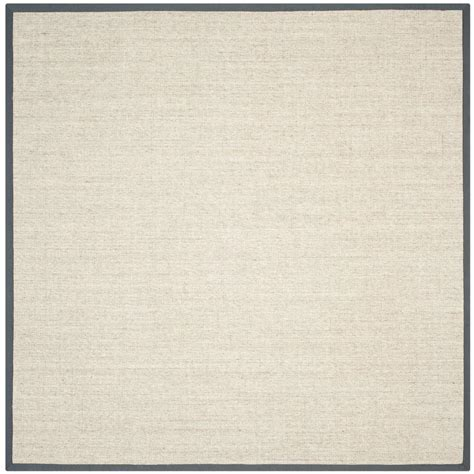 square area rugs 9 x 9 safavieh fiber marble grey 9 ft x 9 ft square area rug nf441b 9sq the home depot