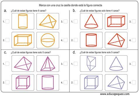 figuras geometricas matematica ejercicios de figuras geom 233 tricas para primaria figuras