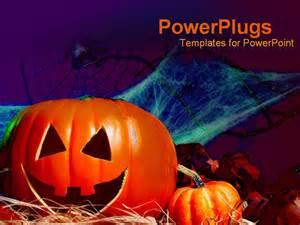 powerpoint template halloween decorations pumpkin bat