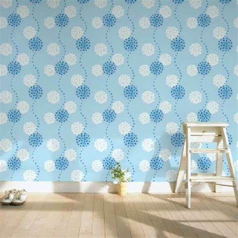 jual wallpaper dinding walpaper dinding dandelion biru