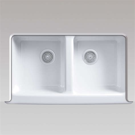 White Cast Iron Kitchen Sink by Kohler Hawthorne 6534 White Cast Iron Sink Kitchen