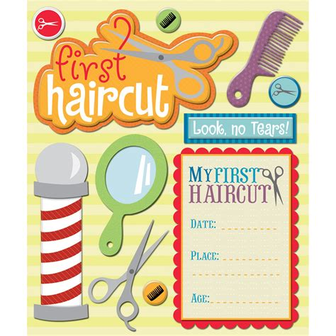 scrapbook layout for first haircut k company first haircut sticker medley scrappin