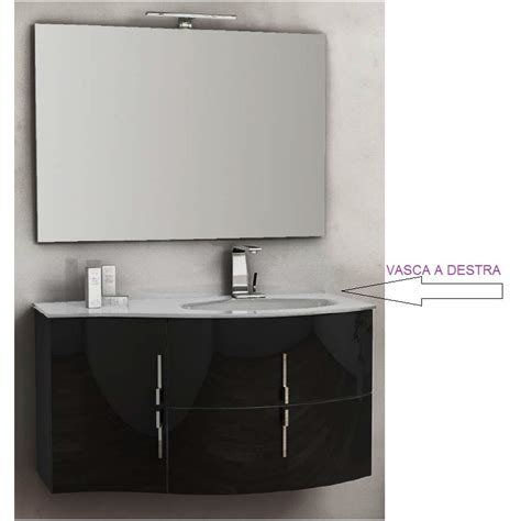 mobile da bagno sospeso baden haus mobile da bagno sospeso 104 cm sting nero lucido