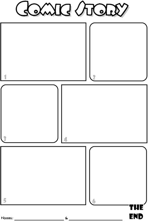 printable book template comic book template coloring pages