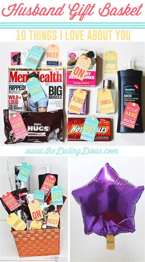 gifts husband husband gift basket 10 things i about you