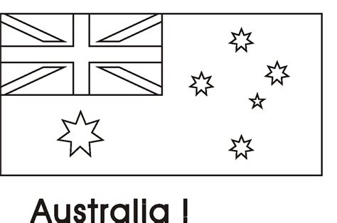 printable coloring flags australia coloring pages