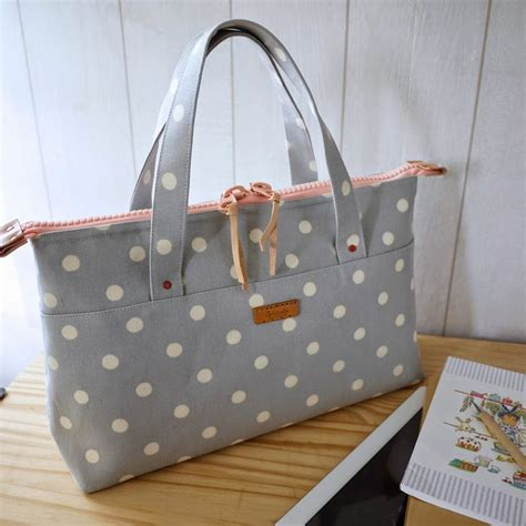 Artchala Handmade - artchala handmade handcarry bag simple dots sew bag