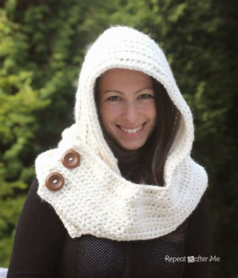 free pattern hooded cowl repeat crafter me hooded crochet cowl with lion brand