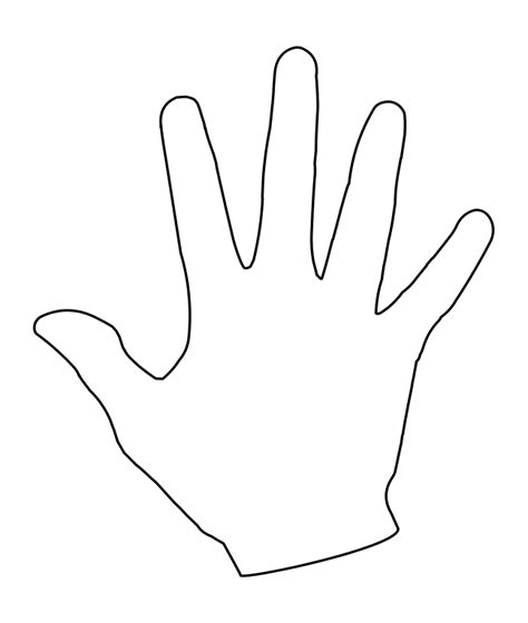 outline of hand cliparts co