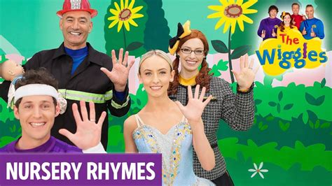 row your boat wiggles the wiggles nursery rhymes five fingered family youtube