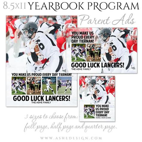 Yearbook Program Parent Ad Set Clean Collage Ashedesign Yearbook Collage Template