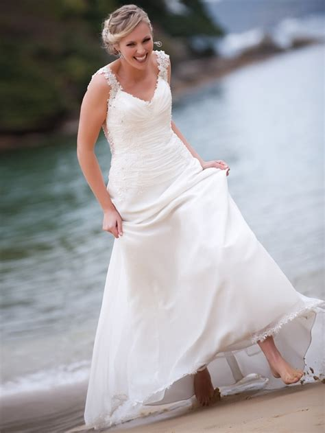 Picture Of Beautiful And Relaxed Beach Wedding Dresses Spring Wedding Photo Shoot
