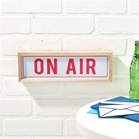 on air sign light quot on air quot light box led sign in gift box