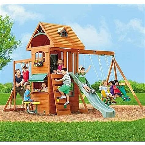 ridgeview clubhouse wooden swing set 1000 ideas about wood swing sets on pinterest wood