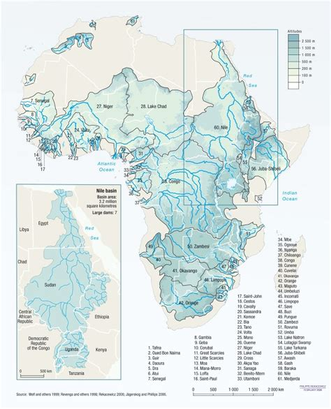africa map of rivers africa s rivers and lake basins cross many borders vital