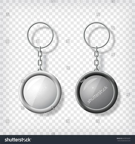 card template key chain two key chain pendants mockup transparent stock vector