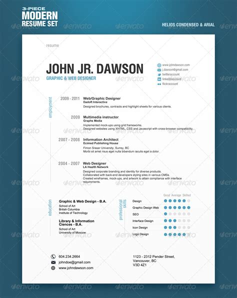 Plantillas De Curriculum Indesign Curriculum Vitae Creativo