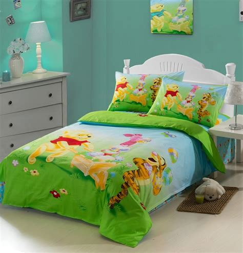 winnie the pooh comforter winnie the pooh green kids duvet cover bedding sets kids