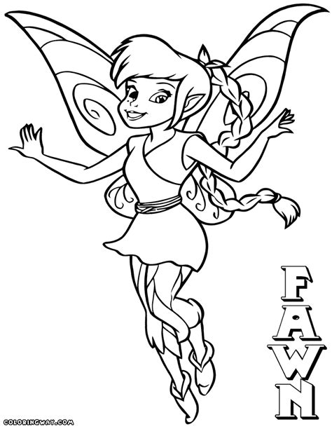 fawn fairy coloring pages coloring pages to download and