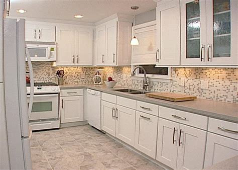Kitchen Backsplash With White Cabinets Backsplashes And Cabinets Beautiful Combinations Spice Up My Kitchen Hgtv