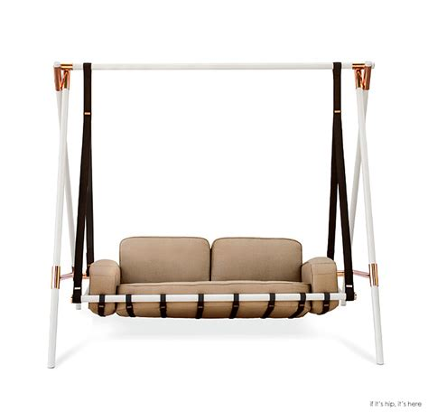 swing couch the fable swing is a chic version of grandma s ugly porch