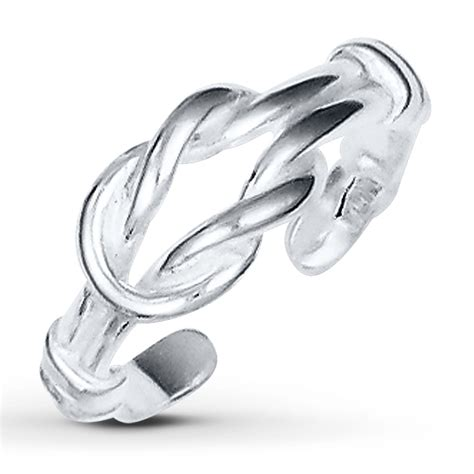 jared knot toe ring sterling silver