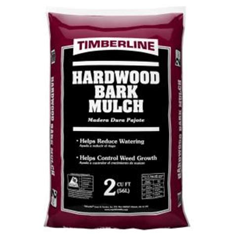 timberline 2 cu ft shredded hardwood mulch 52055476