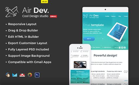 airdev email template buy premium airdev email template