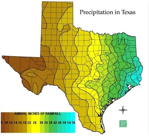 texas precipitation map which part of texas receives the most rainfall quora
