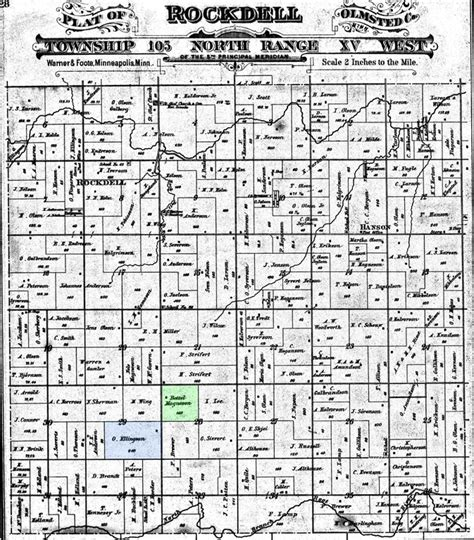 Olmsted County Records Botolf Magneson B 1847 Generation Of 1837 Emigrant Voss Immigrants