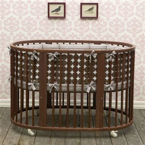 Oval Cribs For Babies by Modern Baby Crib Dwellstudio Oval Crib Set In Chocolate