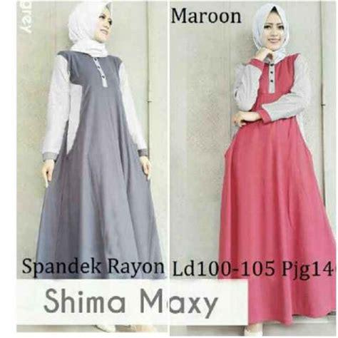 Gamis Maxi Dress Murah Azka Set Wolfice All Size Fit L Marun gamis remaja shima maxi b052 baju muslim modern murah