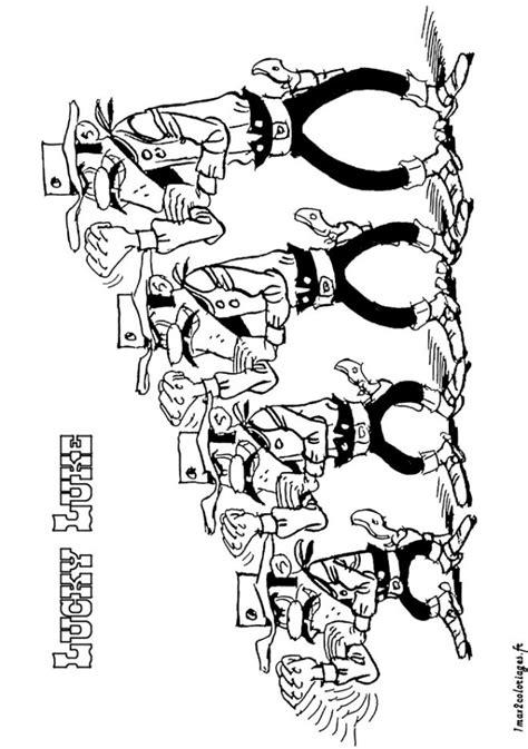 Coloriage Les Daltons frères dessin gratuit à imprimer