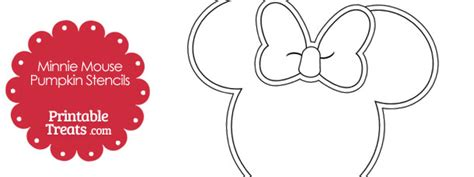 minnie mouse template for pumpkin carving printable minnie mouse pumpkin stencils printable treats