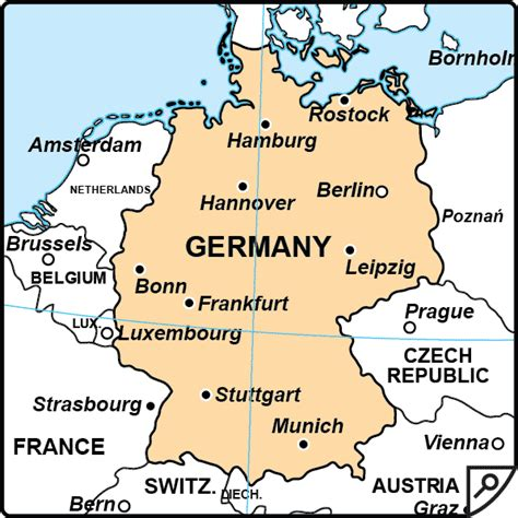 germany map and surrounding countries map of germany and surrounding countries in german