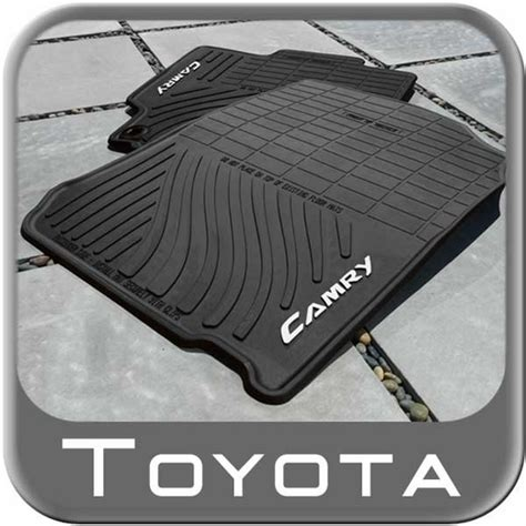 2014 Toyota Camry Floor Mats by 2012 2014 Toyota Camry Rubber Floor Mats All Weather Black