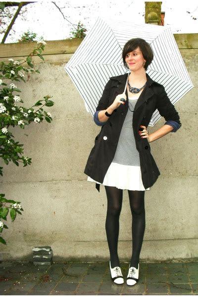 black coat white shoes coat